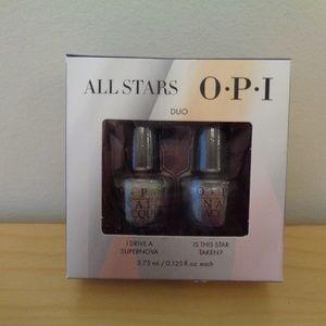 NEW OPI All Star Duo Mini Nail Polish Silver Gold
